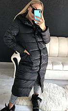 Женская удлиненная зимняя куртка, фото 3