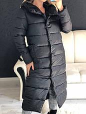 Женская удлиненная зимняя куртка, фото 2