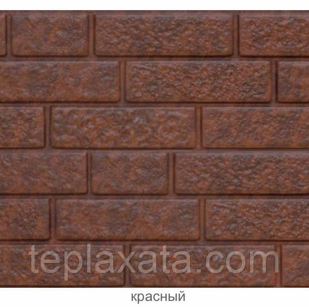 Фасадная панель Ю-ПЛАСТ Stone-House Кирпич Красный (0,695 м2)