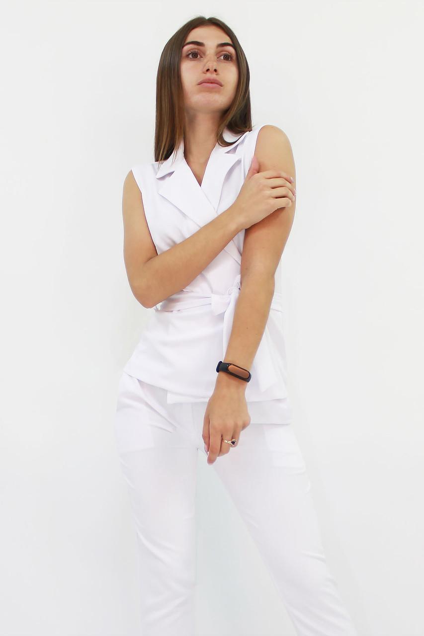 S, M, L, XL / Стильний брючний костюм Archer, білий