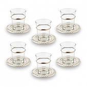 Набор чайных стаканов Doreline серебристый на 6 персон
