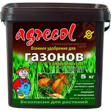 Удобрение Agrecol осеннее для газона, 5 кг.