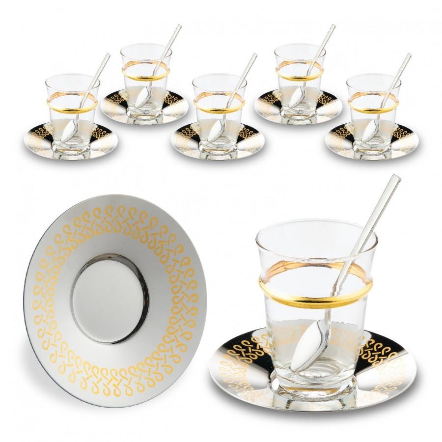 Набор чайных стаканов Doreline Бесконечность с позолотой на 6 персон