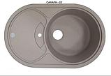 Раковина для кухні чорна 9-058, фото 4