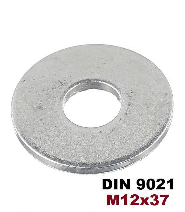 М12х37мм Шайбы кузовные увеличенные плоские Оцинкованные (DIN 9021)