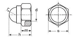 Купить гайку колпачковую DIN 986 в Украине