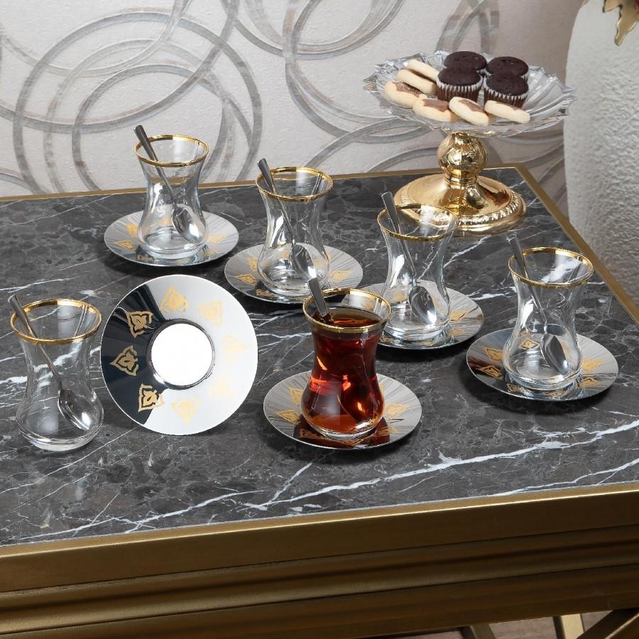 Чайные армуды Doreline Восточный с позолотой 6 штук