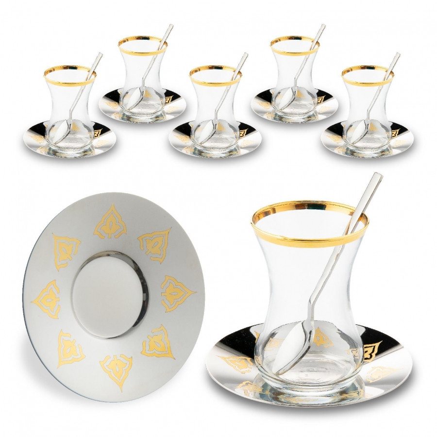 Набор чайных стаканов Doreline Восточный с позолотой на 6 персон