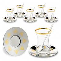 Набор чайных стаканов Doreline Восточный с позолотой на 6 персон, фото 1