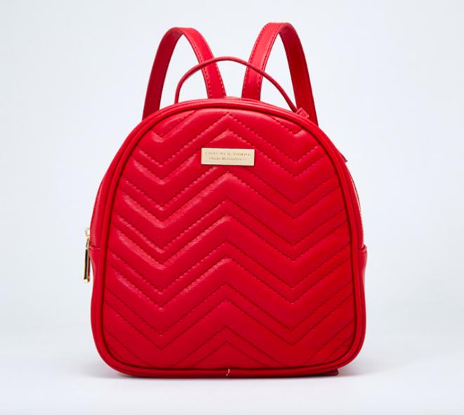 Рюкзак женский кожаный Forever Young Красный