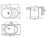 Раковина для кухні чорна 9-058, фото 2
