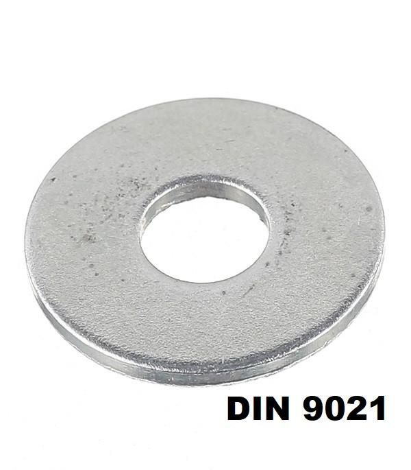 DIN 9021 Шайба увеличенная Кузовная Цинк (Размеры в ОПИСАНИИ)