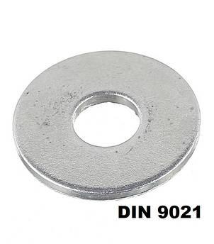 DIN 9021 Шайба збільшена Кузовна Цинк (Розміри в ОПИСІ)