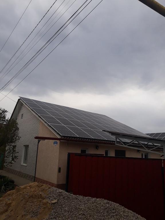 """Измаил солнечная электростанция под """"зеленый"""" тариф мощностью 31 кВт Risen + Huawei Одесская область"""