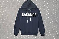 """Толстовка с капюшоном теплая на флисе """"Balance"""" - темно-синий, фото 1"""
