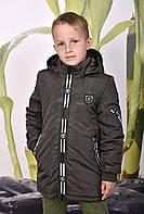 Куртка-парка удлиненная весна-осень для мальчиков рост 128-134, фото 1
