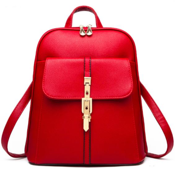 Рюкзак женский кожзам городской Kailalivia Красный