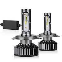 Комплект LED ламп 2 шт. CANBUS H4 60W 9000LM 12V с вентиляторами