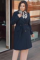 Женский тренч большого размера.Размеры:48-58.+Цвета