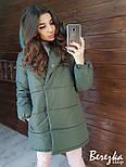 Женская зимняя куртка-одеяло с капюшоном vN2399, фото 6