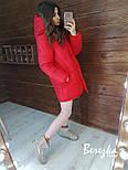 Женская зимняя куртка-одеяло с капюшоном vN2399, фото 9