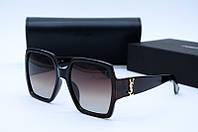 Солнцезащитные очки YSL 8698 коричневые, фото 1