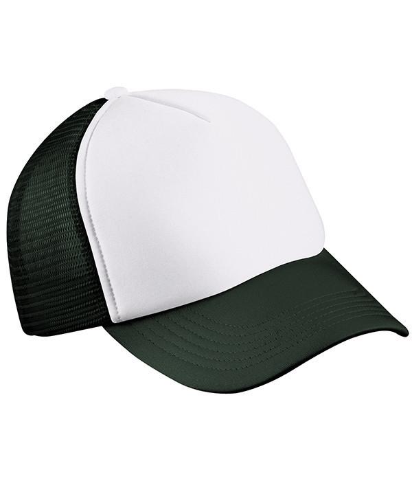 Дитяча кепка Білий / Чорний
