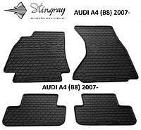 Коврики в салон резиновые Stingray AUDI A4 (B8) 2007