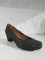 Туфлі жіночі CAPRICE 223 DK Grey rept сірі, шкіра з лазерним напиленням, фото 1