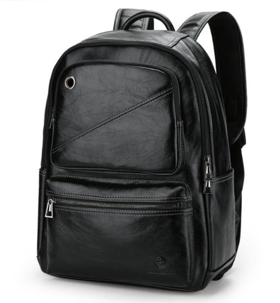 Рюкзак чоловічий шкіряний Feidika Bolo Style Чорний