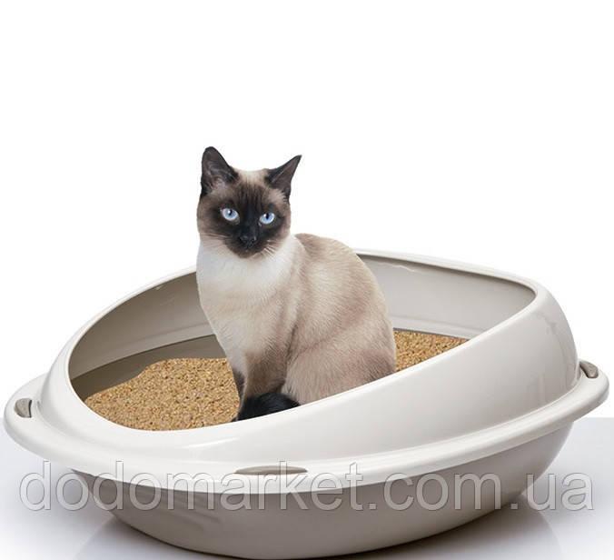 Туалет для кошек круглый Shuttle Georplast Италия диаметр 45 см