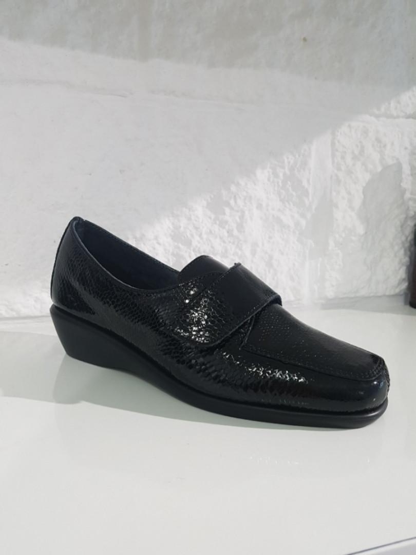 Туфлі жіночі GoErgo чорні (шкіра / текстиль)