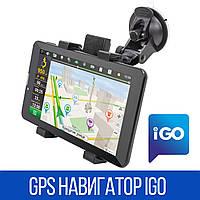 ★GPS навигатор IGO DVR700PI 7 дюймов 1/16Gb встроенный видеорегистратор GPS/A-GPS 3G 2SIM для дальнобойщиков