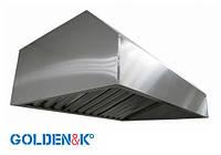 Вытяжной зонт пристенный с жироуловителями 1400х800 h400