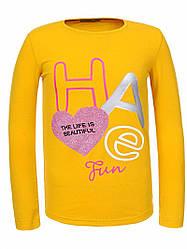 Реглан для девочки жолтый 10 лет