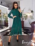 Женское элегантное нежное платье-миди в горошек, фото 4