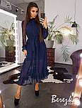 Женское элегантное нежное платье-миди в горошек, фото 5