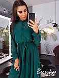 Женское элегантное нежное платье-миди в горошек, фото 6