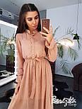 Женское элегантное нежное платье-миди в горошек, фото 7