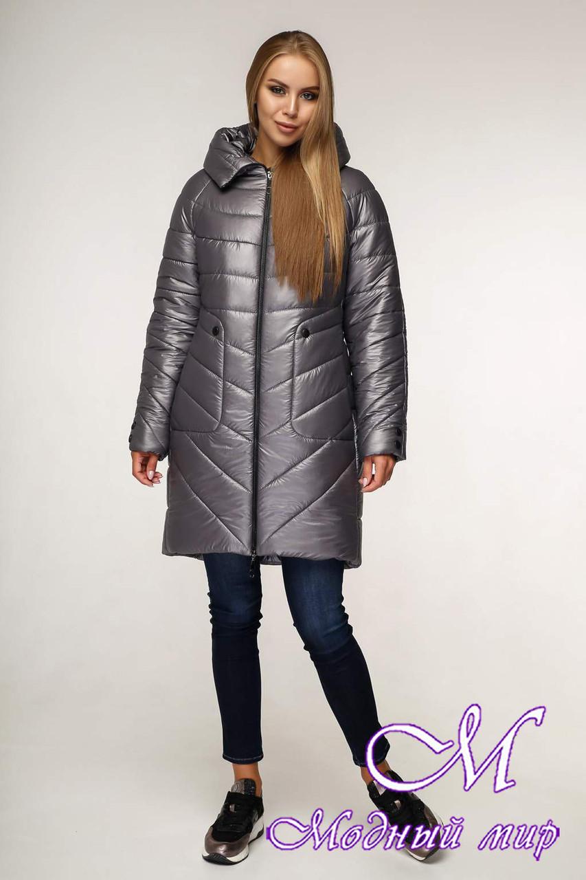 Женская стильная зимняя куртка (р. 44-58) арт. 1144 Тон 5