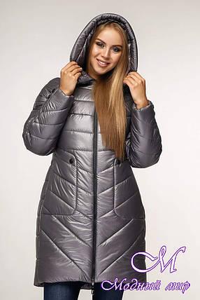 Женская стильная зимняя куртка (р. 44-58) арт. 1144 Тон 5, фото 2
