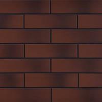 Клинкерная фасадная плитка Cerrad Burgund Cieniowany гладкая 245х65х7