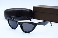 Солнцезащитные очки в стиле Ретро черные, фото 1