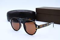 Солнцезащитные очки в стиле Ретро 9028 коричневые, фото 1