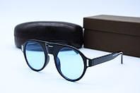 Солнцезащитные очки в стиле Ретро 9028 синие, фото 1