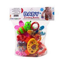 Набор погремушек с прорезывателями  Baby  (7 шт) 8840