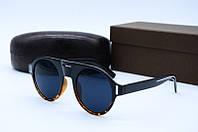 Солнцезащитные очки в стиле Ретро 9028 черные лео, фото 1