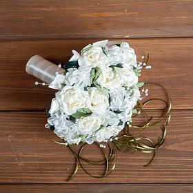 Букет дублер на свадьбу ''Белый Айвори ''