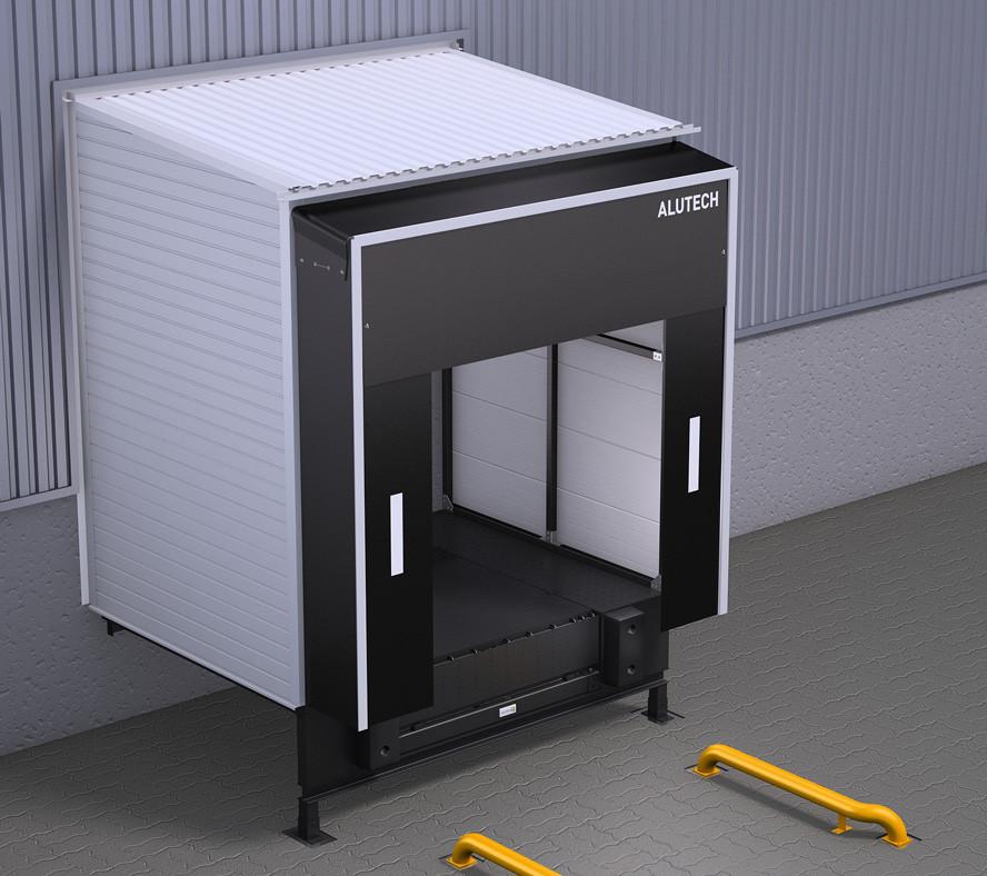 Перегрузочный тамбур Alutech DH (с обшивкой профлистом, размер 2500 х 3400 мм, угол монтажа 90°)