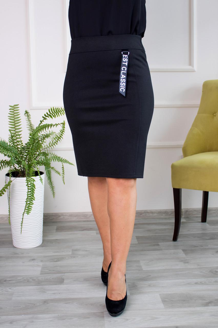 Женская прямая юбка  Верона черная